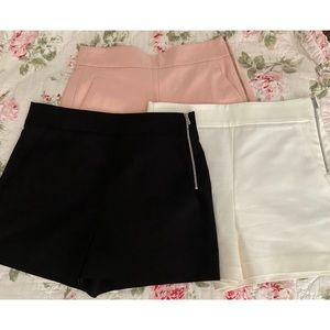 Zara Pink, Black, and White Basic shorts🙌🏻
